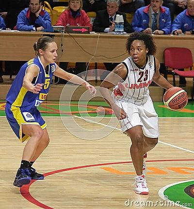Women basketball Euroleague Editorial Stock Photo