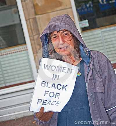 Women in black for peace Editorial Stock Photo