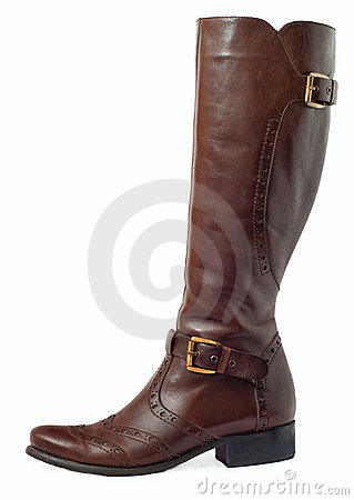 Brown Leather Women's Boots Stock Images - Image: 22641834