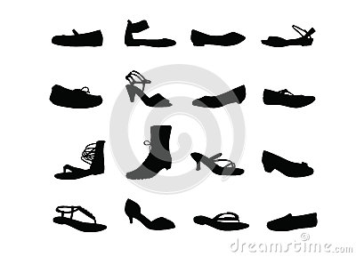 Women casual shoes silhouettes