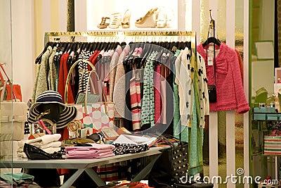 Women Clothing Fashion Store Interiors Royalty Free Stock ...