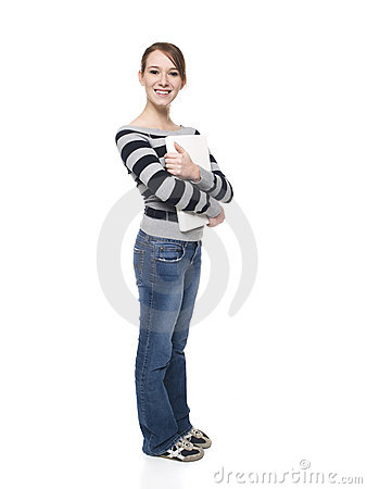 Free Women - College Student Laptop Royalty Free Stock Photography - 7441717