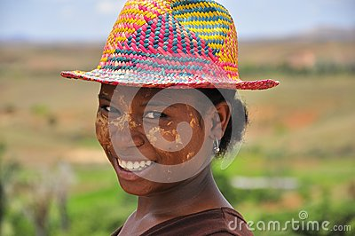 Women with colorful hat Editorial Image