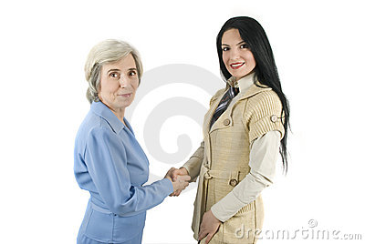 Women concluding a business deal