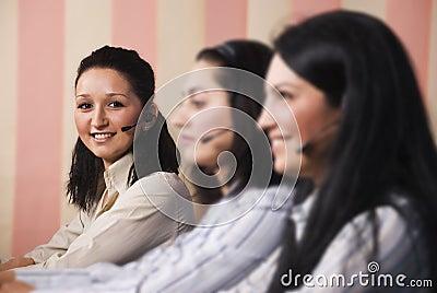 Women customer service team