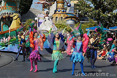 Women Dancers at Disneyland Editorial Stock Image