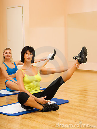 Women doing fitnees exercise