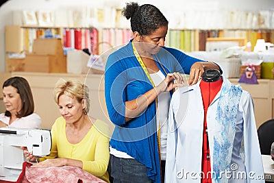 Women In Dress Making Class