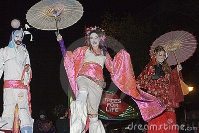 Women dressed as Geisha girls Editorial Photo