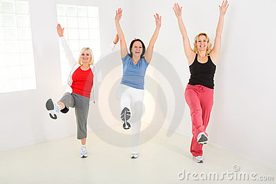 Women during exercising