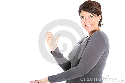 Women expanding her hands to clap