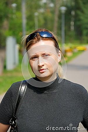 Women with eyeglasses