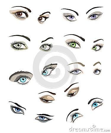 Women eyes set