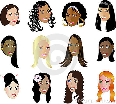 Women Faces Diversity Ethnicity See my others!