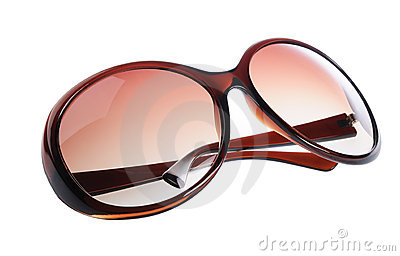 Women fashion brown sun glasses