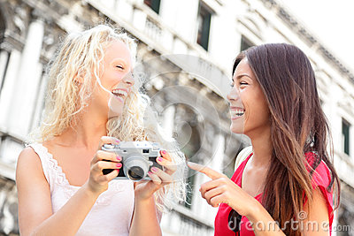 Women friends - girlfriends laughing having fun