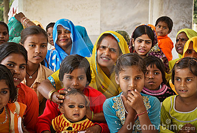 Women and girls of India