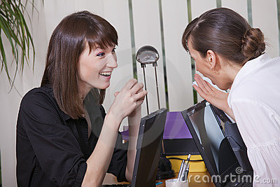 Women gossip in office