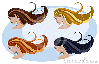 Women, hairstyle and color