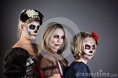 Women in Halloween costume