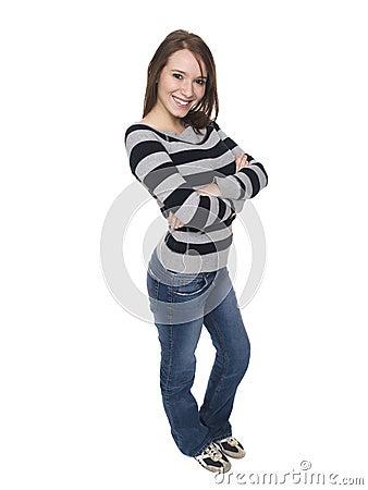 Women - happy college student