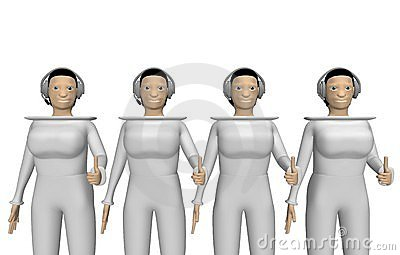 Women with a headset for conference