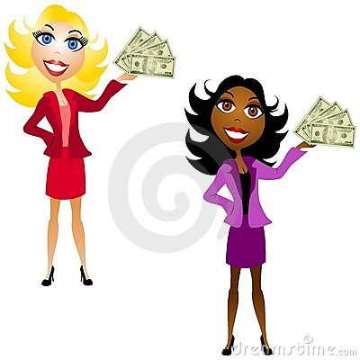 Free Women Holding Cash In Hand Stock Photography - 4882562
