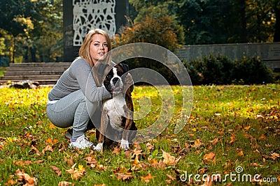 Women Holding Dog