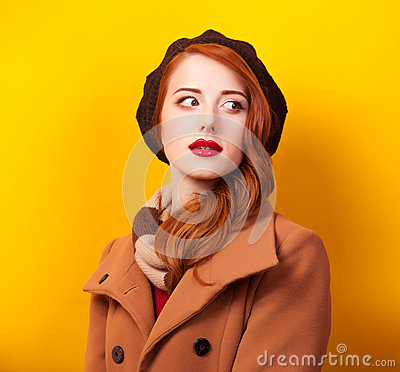 Free Women In Beret Royalty Free Stock Photos - 39750118