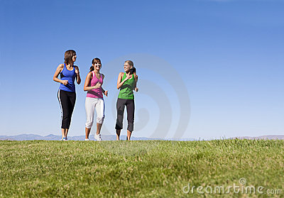 Women Jogging Together