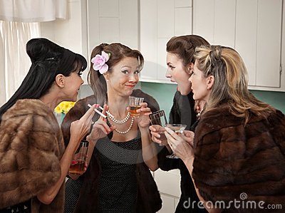Women Joking and Smoking