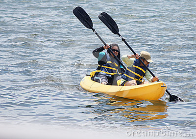 Women Kayaking