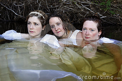 Women in lake