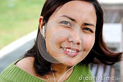 Women listening to the music