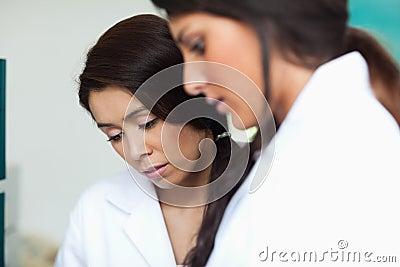 Women looking at something