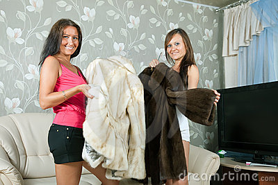 Women  make boast of fur coats
