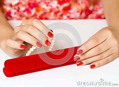 Women manicure