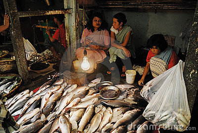 Women market in India Editorial Stock Photo