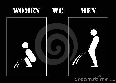 Women and men wc