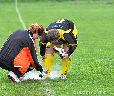 Women Moravian-Silesian football league, injury Editorial Photo