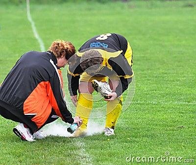 Women Moravian-Silesian football league, injury Editorial Photo