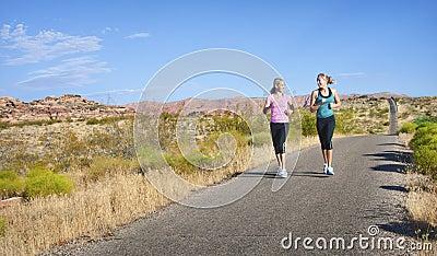 Women on a morning jog together