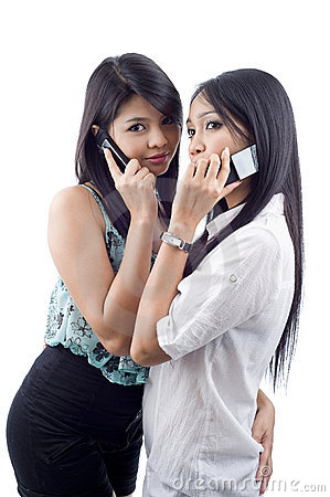 Free Women On The Phone Royalty Free Stock Photo - 16918015