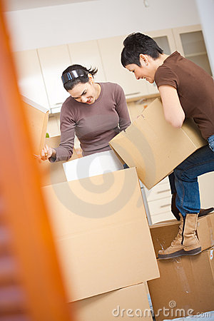 Women packing boxes