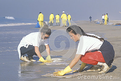 Women participating in an environmental clean up Editorial Photography