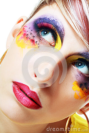 Women with perfect art make up