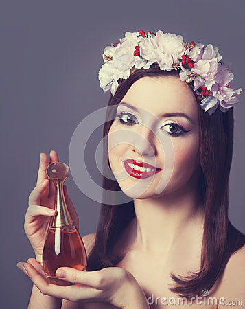Women with perfume.