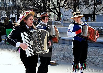 Women Playing Accordions Editorial Image
