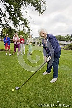 Women Playing Golf