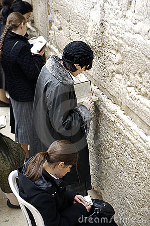 Women praying at The Western Wall Editorial Photography